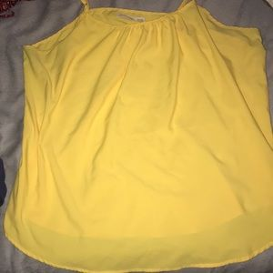yellow cami tank top